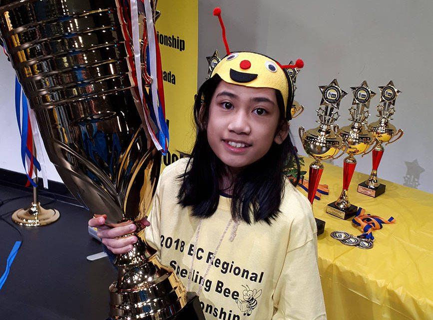 Hanna May Ramis wins B.C. spelling bee