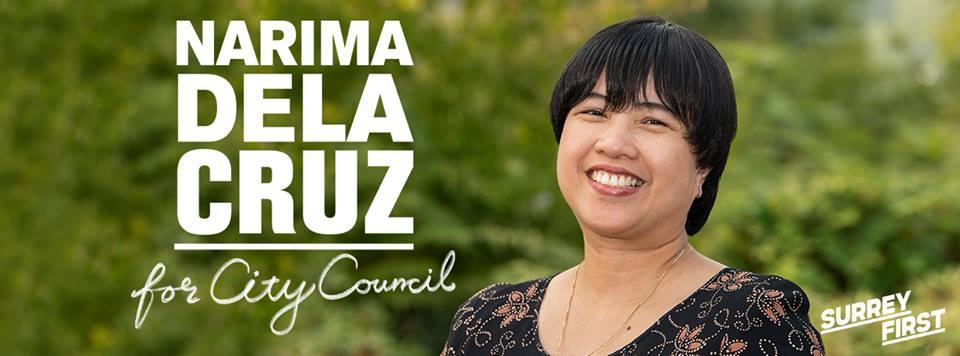Kaunaunahang konsehal? Narima Dela Cruz poised to be first FilipinoSurrey City councillor