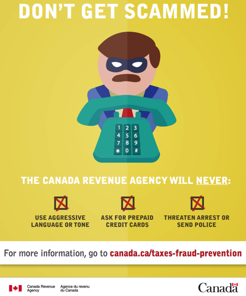 Fraud alert: Scammers pretending to be Revenue Canada
